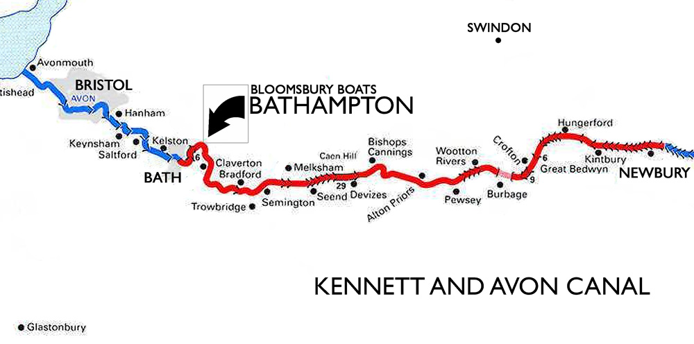 Location of Bloomsbury Boats